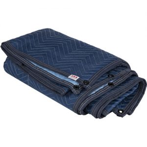 "Image of a Matthews 74""x81"" sound blanket with built in grommets"