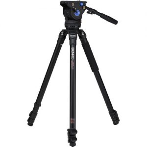 Image of a benro a373f series 3 tripod with a bv6 head.