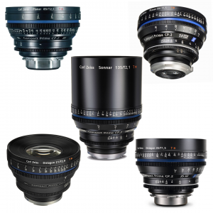 an image showing five siess cp2 lenses